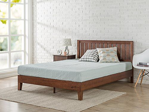 Zinus 12 Inch Deluxe Solid Wood Platform Bed With Headboard No Box