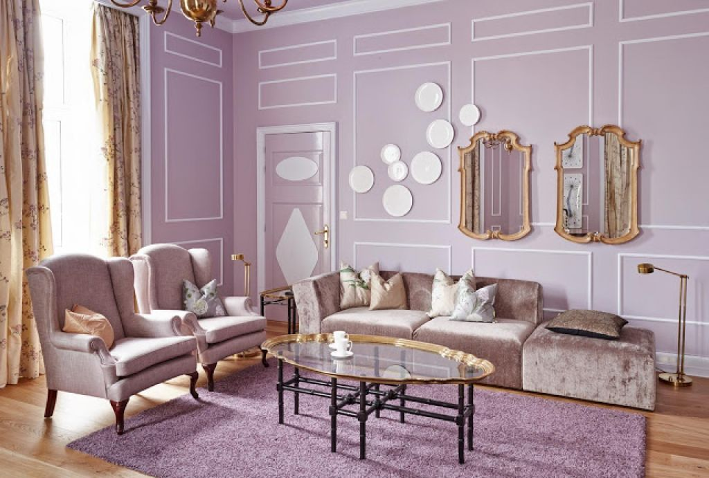 Living Room Beautiful Lavender Living Room With Romantic