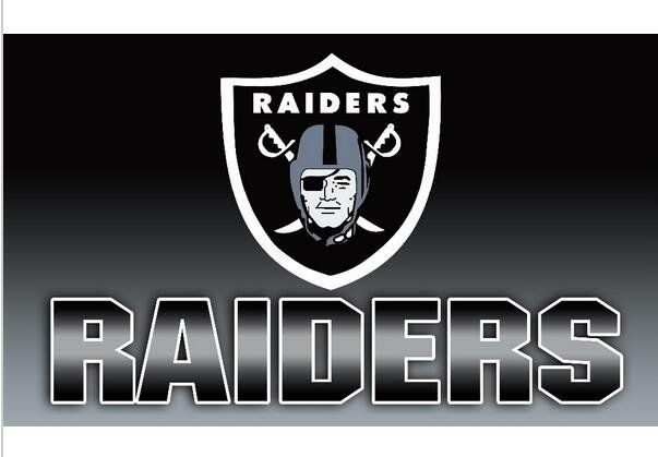Oakland Raiders Flag 3x5 Polyester 2 Grommets 460098 Raiders Flag Raiders Oakland Raiders
