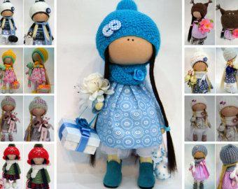 Muñeca Tilda muñecas tela muñeca Interior muñeca trapo arte muñeca muñeca hecha a mano muñeca rosa suave muñeca infantil muñeca muñeca de trapo Collectable por Olga S ____________________________________________________________________________________  Hola, queridos visitantes!  Se trata de una muñeca de tela hecha a mano creada por la maestra Olga s. (Karaganda, Kazajstán).  Muñeca es de 25 cm (9,8 pulgadas) alto y de sólo materiales de calidad.  Estas muñecas y juguetes pueden ser un gran…
