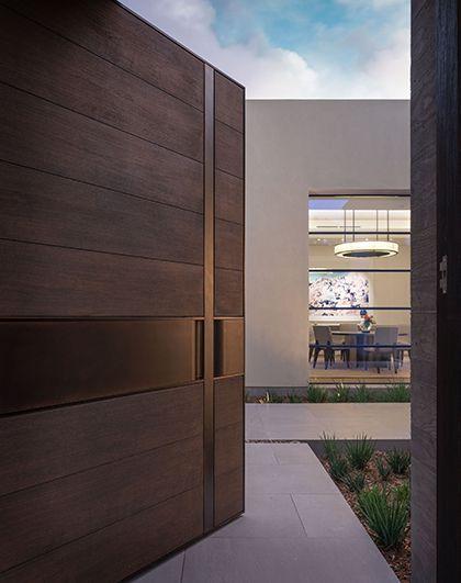 Puertas principales minimalistas puertas principales de for Puertas de madera y cristal exterior