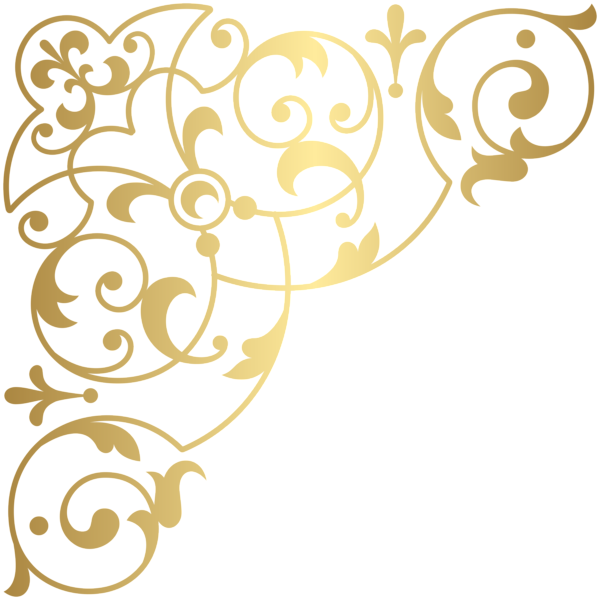 Golden Corner Clip Art Image Art Images Art Clip Art