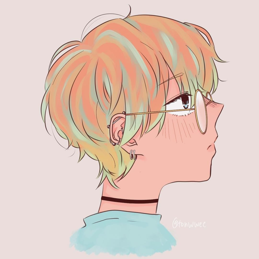 Ear Piercings I Want Some V Hands Up If You Have Earpiercing Anime Manga Drawing Art Sketch Digitalart Ma Anime Guys With Glasses Ear Piercings Anime