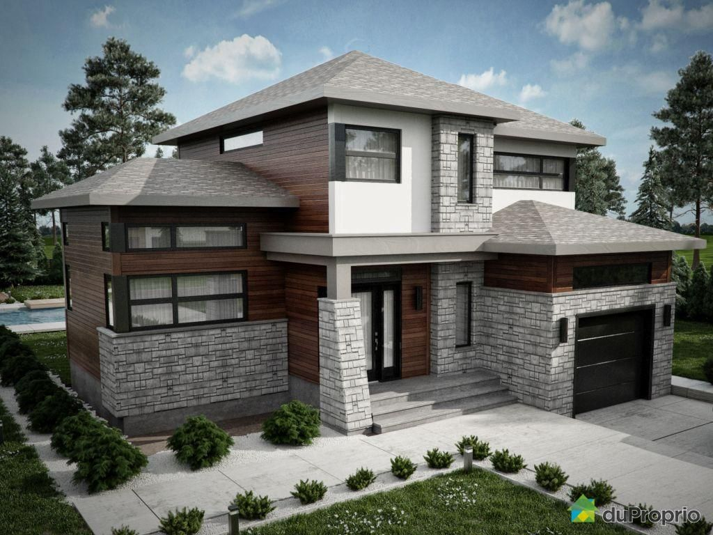Maison neuve a vendre granby rue des cimes immobilier for Maison moderne neuve
