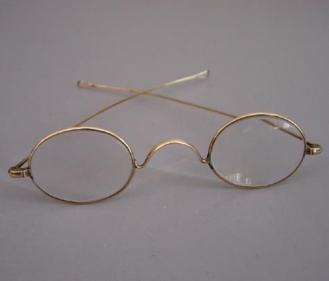 2ee6e49dba13 Optometrist Attic - SAVILE ROW 14K GOLD PANTO CENTRE JOINT WIRE ...