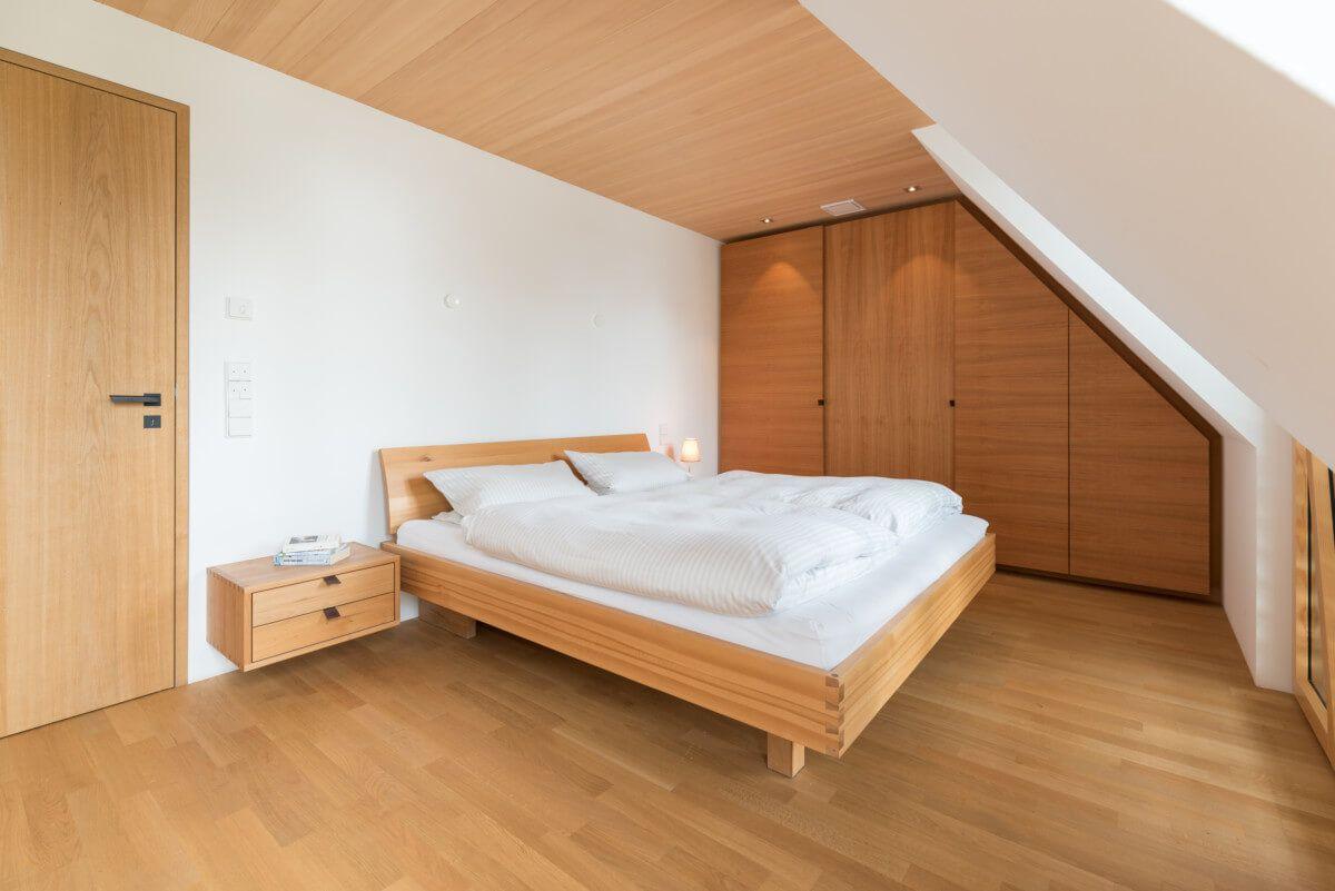 Schlafzimmer mit Dachschräge Einrichtungsideen Stadthaus