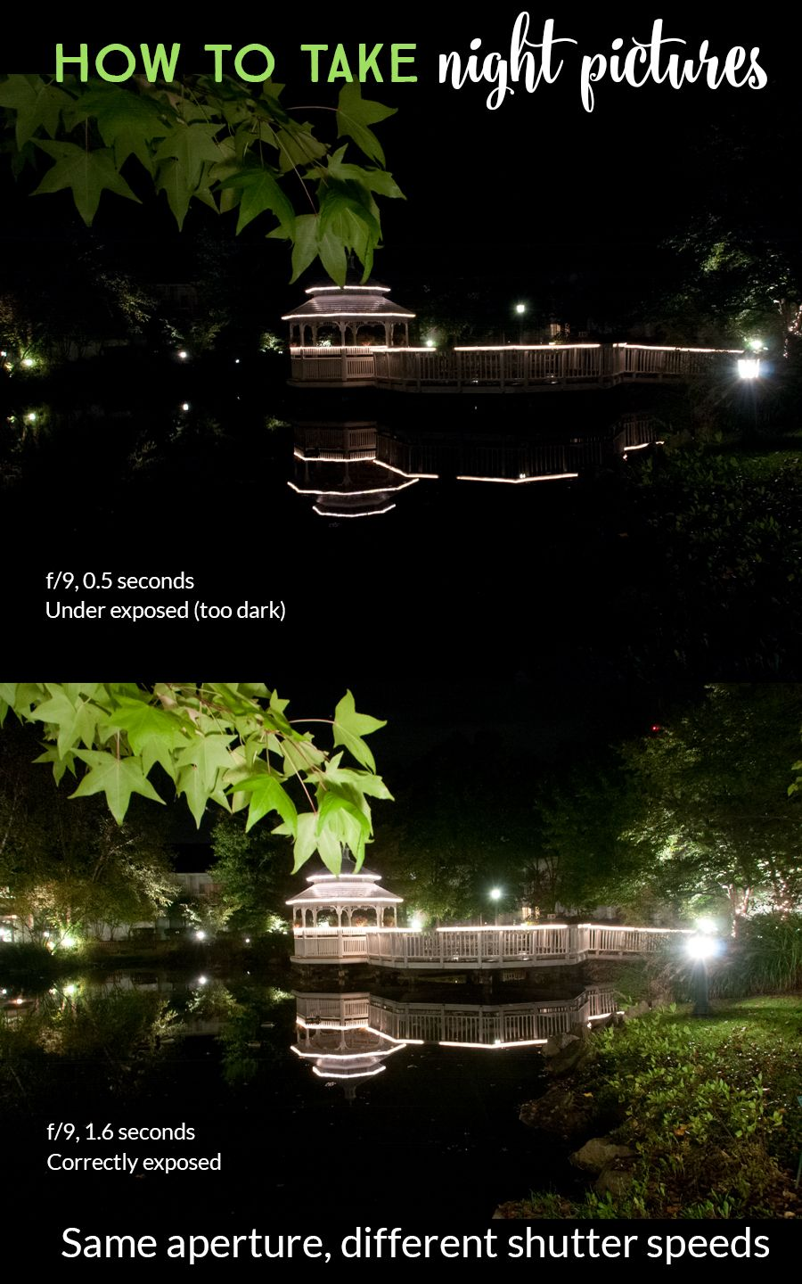 How To Take Night Pictures Of Scenery Photography Settings Night Pictures Digital Photography Lessons