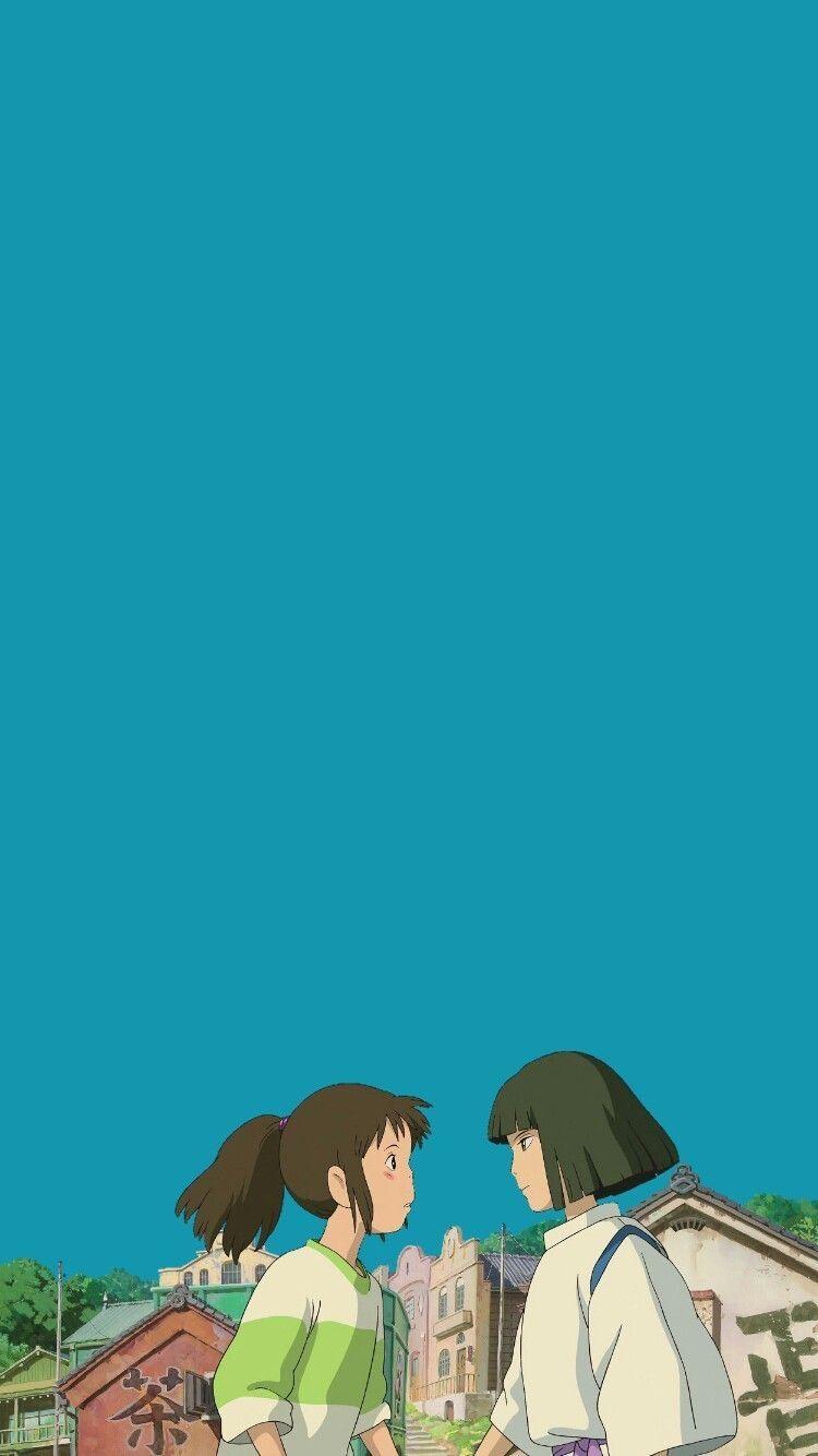 千と千尋の神隠し 01 無料高画質iphone壁紙 漫画の壁紙 Iphone 壁紙 アニメ ジブリ イラスト