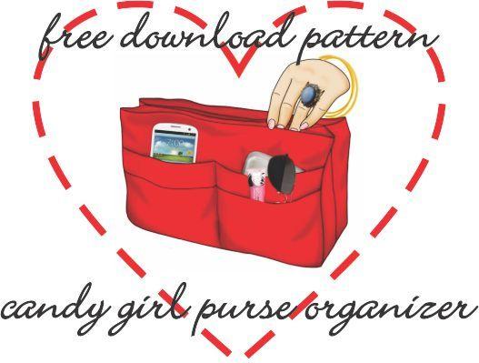 Free Download Candy Girl Purse Organizer Banner Jpg 527 399 Pixels Purse Organization Girls Purse Sewing Patterns Free