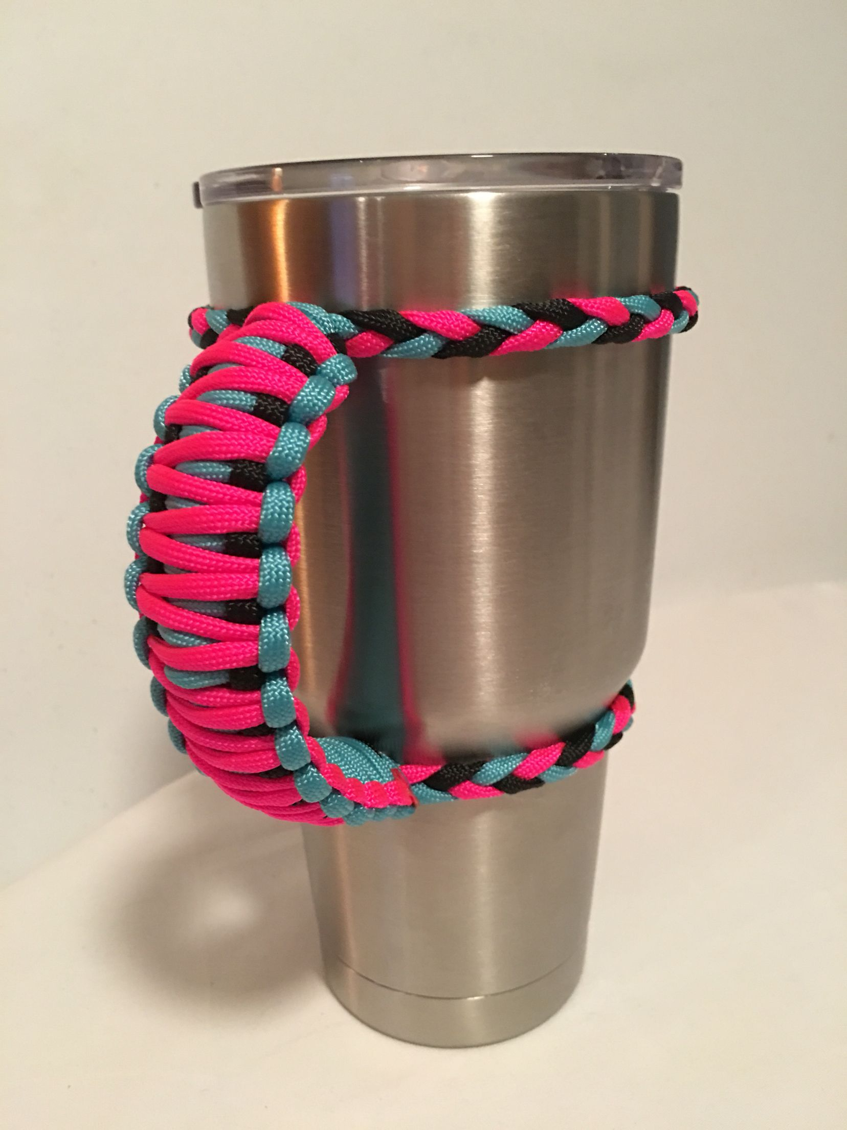 Neon BlackParacord Handles Tumbler PinkTurquoiseamp; 30oz vmNny8w0O