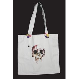 Dripping Skull Canvas Bag