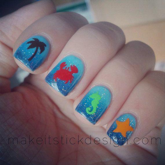 Best 25+ Beach Nail Designs Ideas On Pinterest