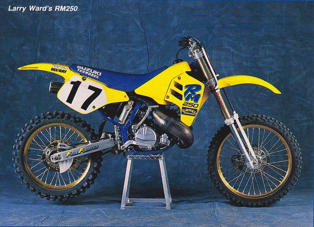 Larry Ward Suzuki Rm 250 Cc Ama Yamaha Motocross Suzuki Bikes Vintage Motocross
