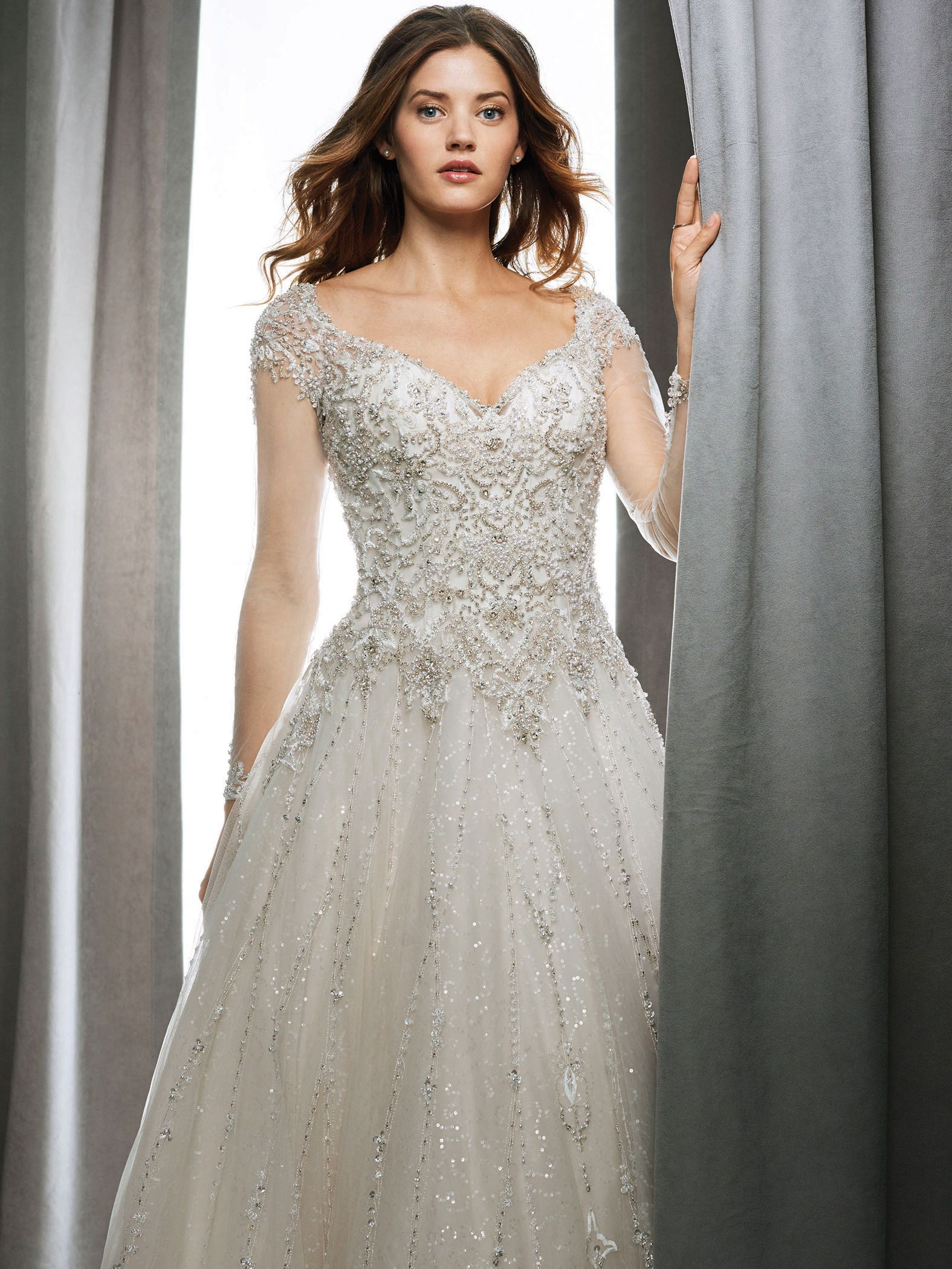 Champagne colored wedding dress  Kenneth Winston   Kenneth Winston Bridal  Pinterest  Gowns