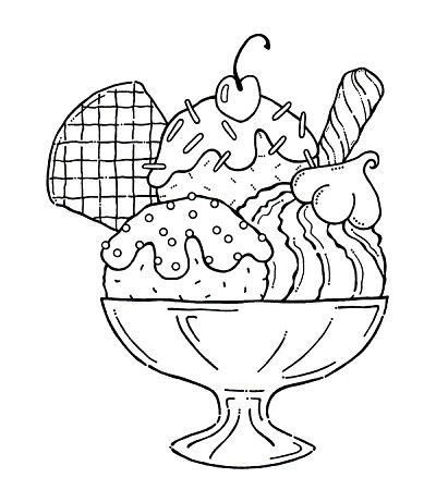Mega Sundae Ice Cream Coloring Pages Coloring Pages Free