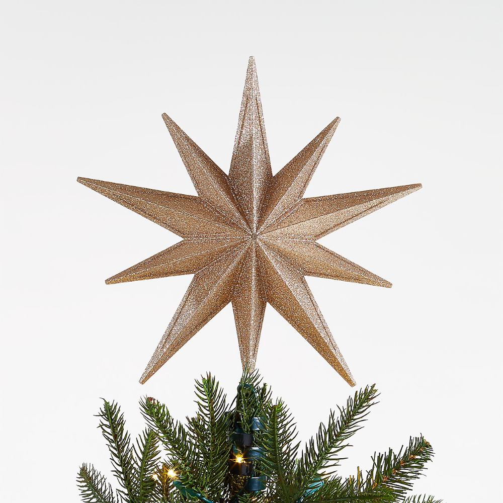 Gold Star Lit Tree Topper Crate And Barrel Lighted Tree Topper Star Christmas Lights Christmas Tree Toppers
