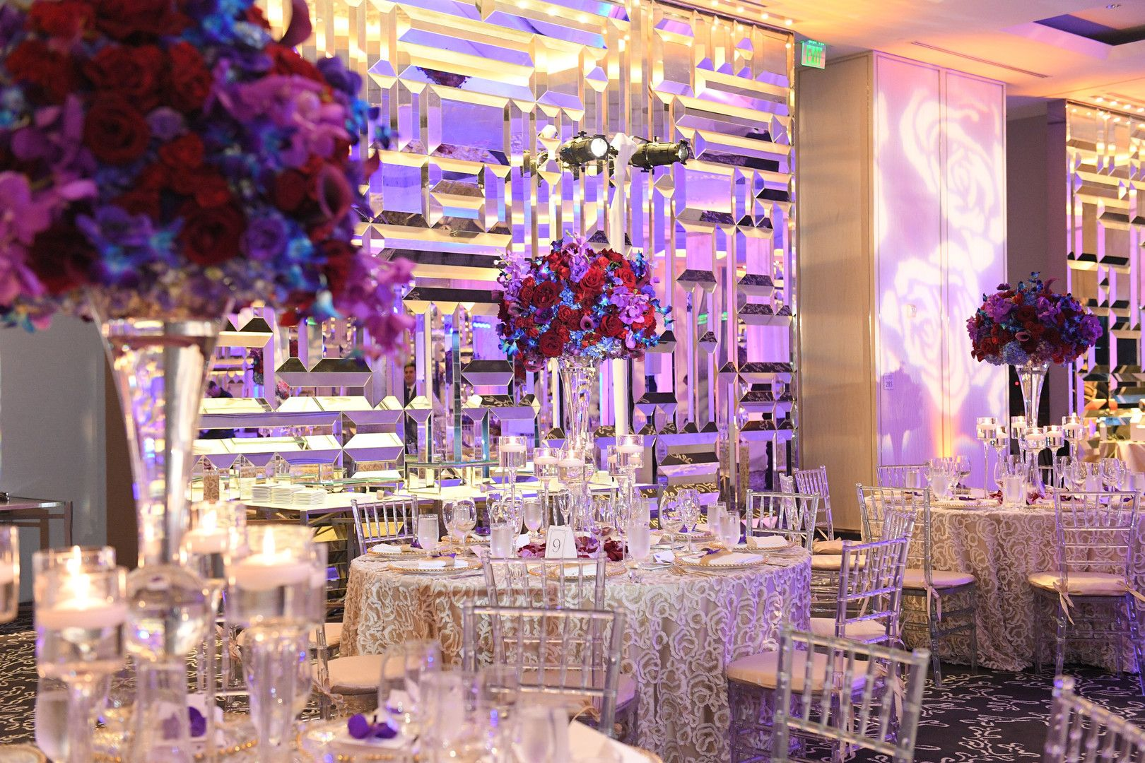 A Luxury Orchid Filled Miami Beach Wedding Orchid Centerpieces Blue Centerpieces Purple Centerpieces Blue Centerpieces Wedding Centerpieces Rustic Chic