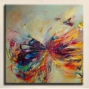 Tableau peinture l 39 huile toile art insectes papillon contemporain paintin - Art contemporain pas cher ...