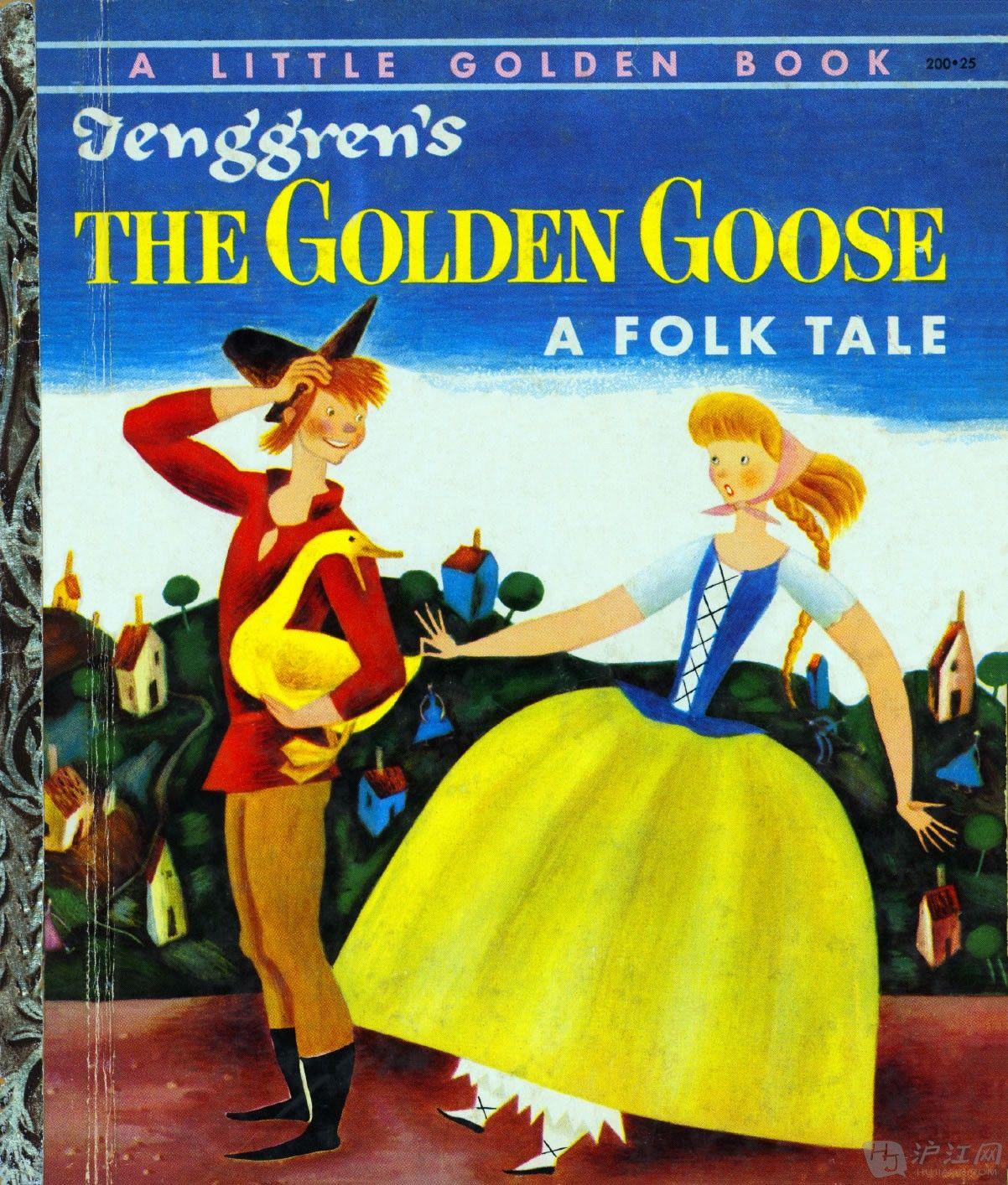 1954 the golden goose fairy tale little golden book