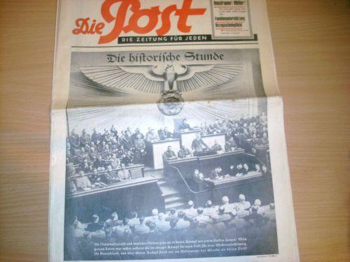 DIE POST München 10.September1939 große Tageszeitung ab 1 Euro