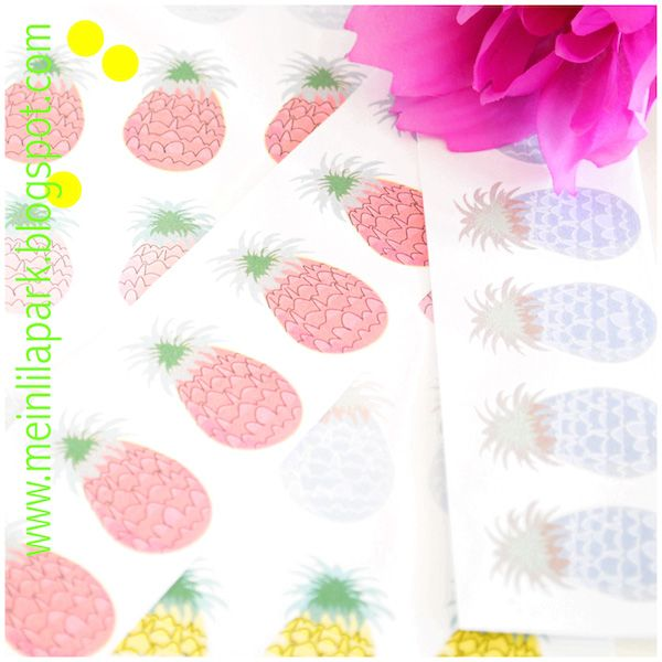 MeinLilaPark – DIY printables and downloads: Free printable pineapple border paper - ausdruckba...