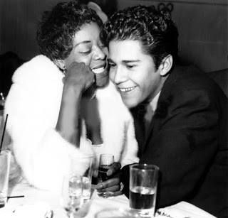 """Dinah Washington and hubby actor Rafael Campos (His first movie was """"Blackboard Jungle"""" with Glenn Ford, Sidney Poitier, Jameel Farah/Jamie Farr 1955). Dinah had no shame in her game and changed husbands like clothes. Rafael Campos was her 6th husband but not last."""