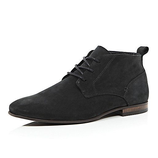 Black leather chukka boots - boots - shoes / boots - men | Apparel ...