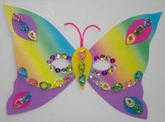 Bricolage enfant masque papillon facile avec mat riel - Bricolage facile pour enfants ...