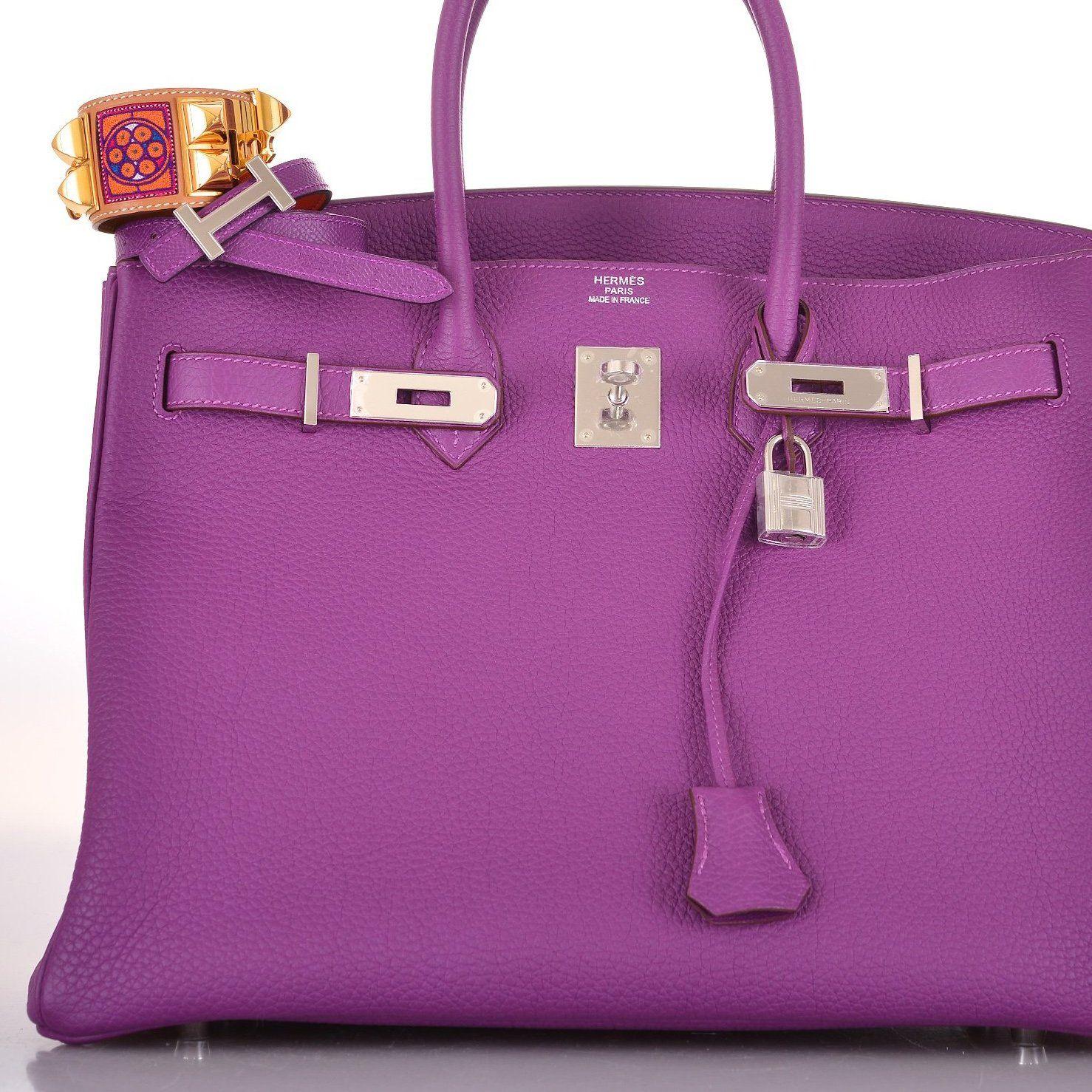 1ae0e4c3d40 Fancy - Hermes Birkin Bag 35cm Anemone with Pall Hardware