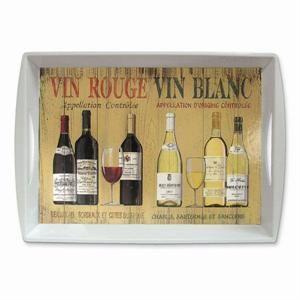 Vin Rouge/Vin Blanc Serving Tray