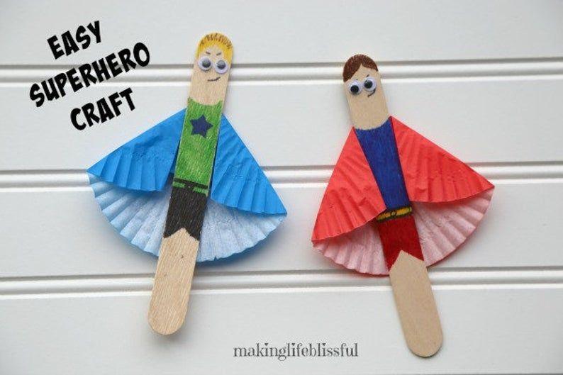 DIY Superhero Craft Kit for Kids (3 per kit)
