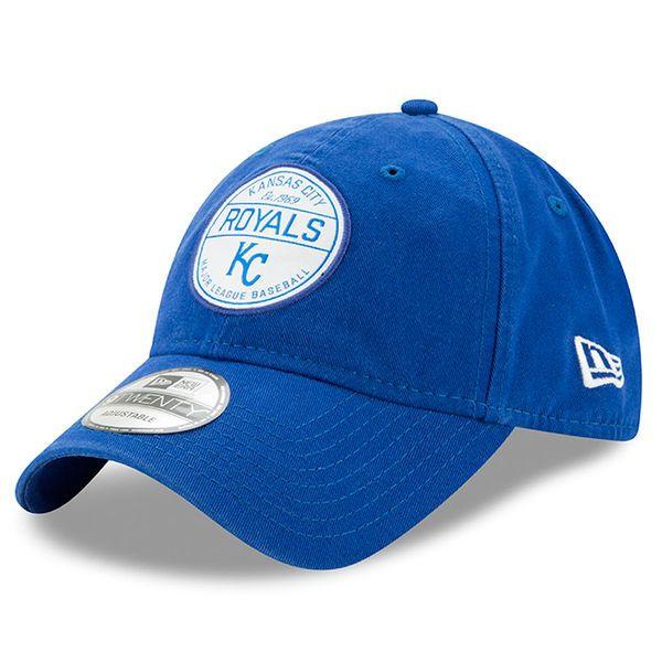a4fd30ca7bb Men s Kansas City Royals New Era Royal Core Standard 9TWENTY Adjustable Hat  1