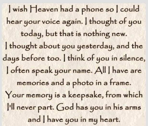 Things I Wish I Knew Before My Mom Died Quotes: I Wish Heaven Had A Phone. I Miss You