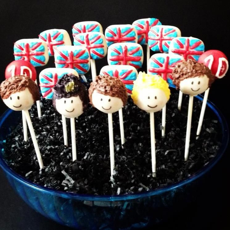 One Direction Cake Pops!