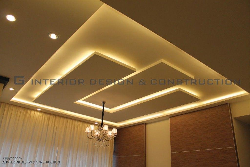 Attractive Unique Ceiling Plaster Design Ideas With Elegant Light