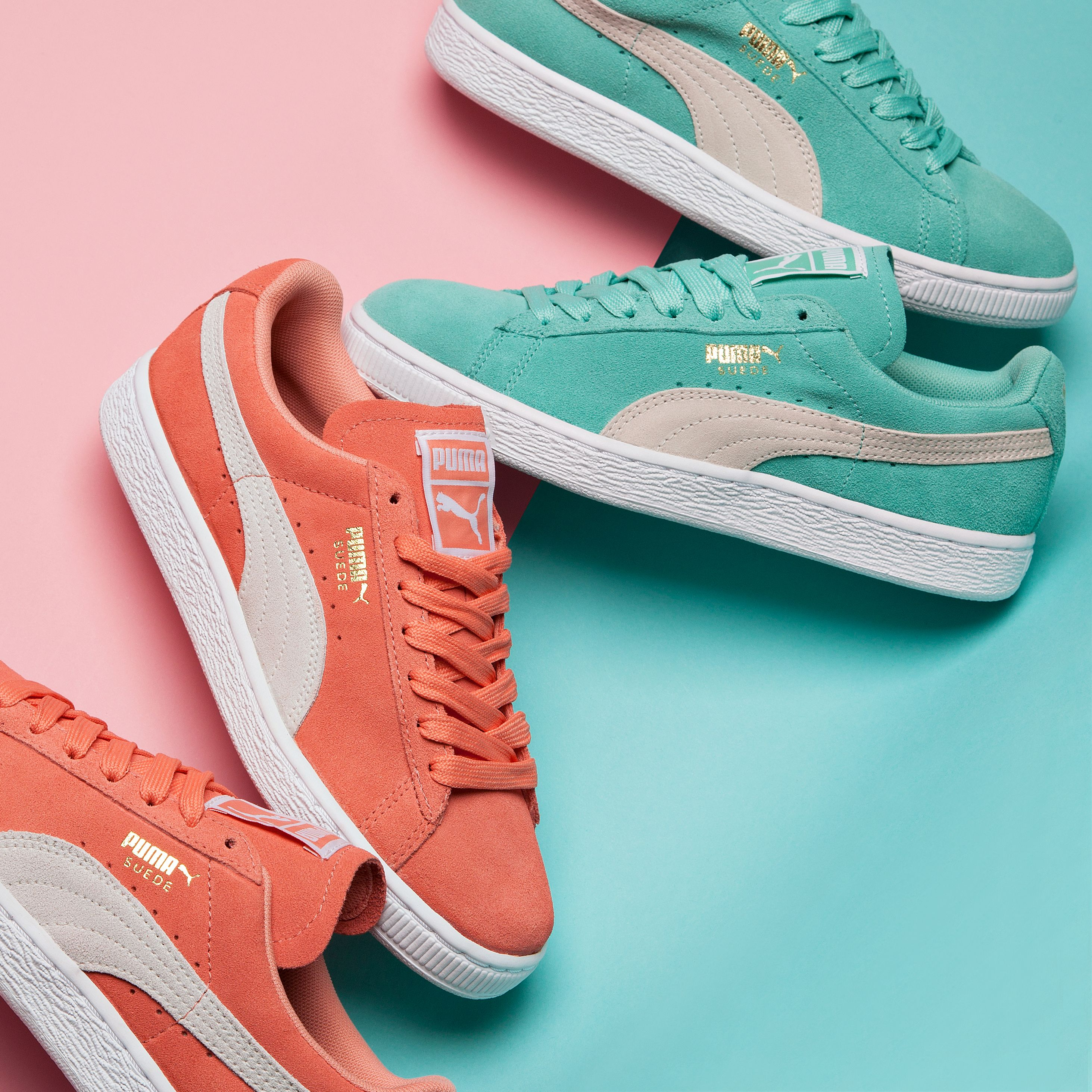 fc8e362657e Step into Spring with the Puma Womens Suede Classic Trainer in Desert  Flower   Holiday.