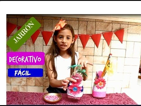 Jarrón decorativo/ Frasco decorativo - YouTube