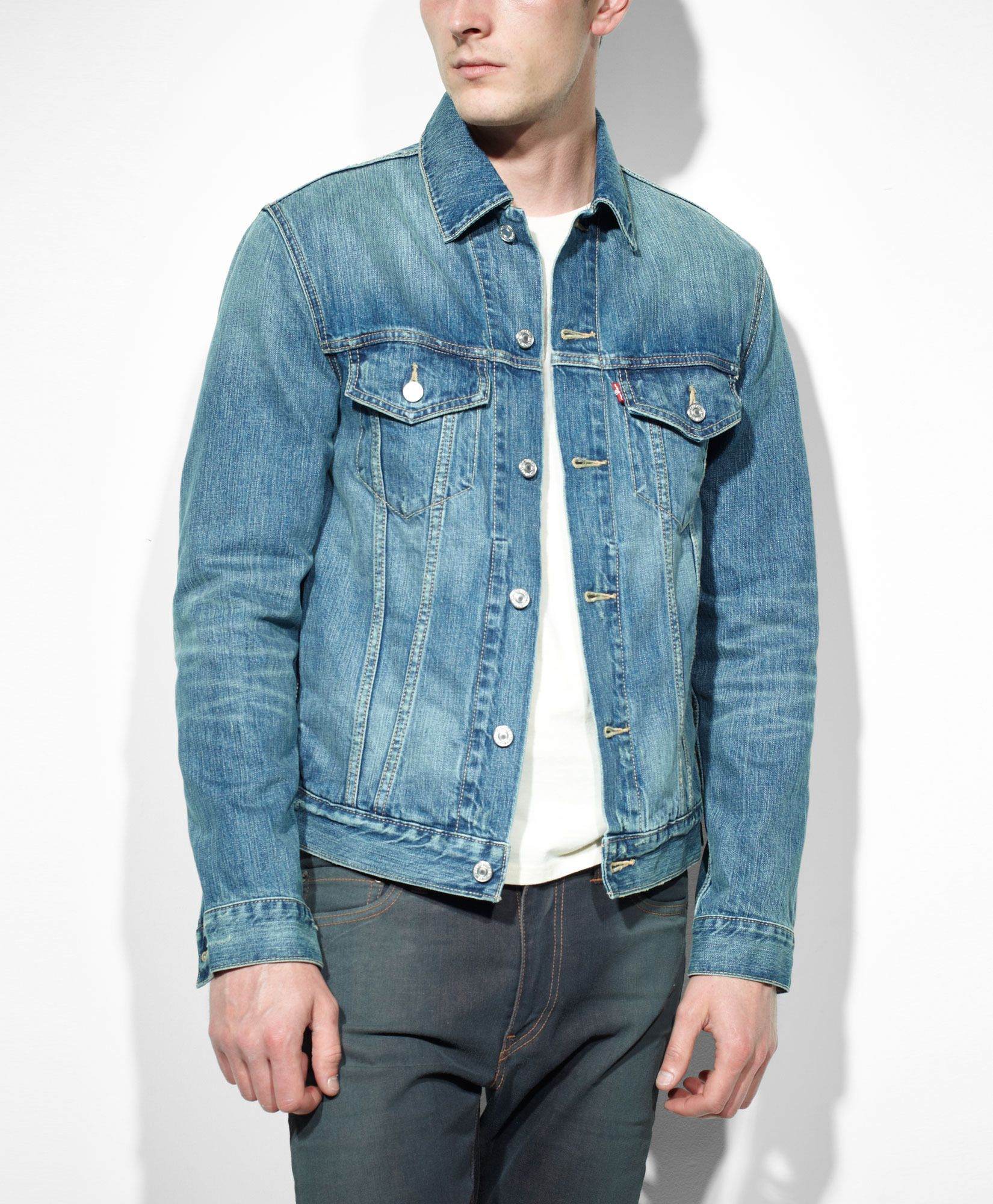 Levi's Slim Fit Trucker Jacket - Ghost