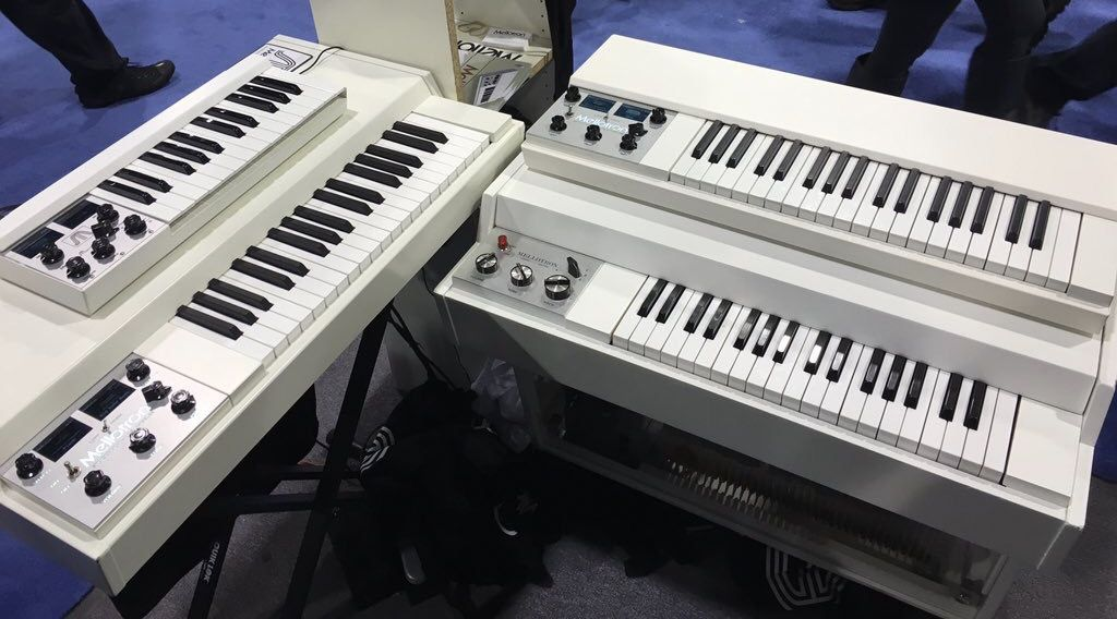 Left: Mellotron M4000D with Micro on top  Right: Original