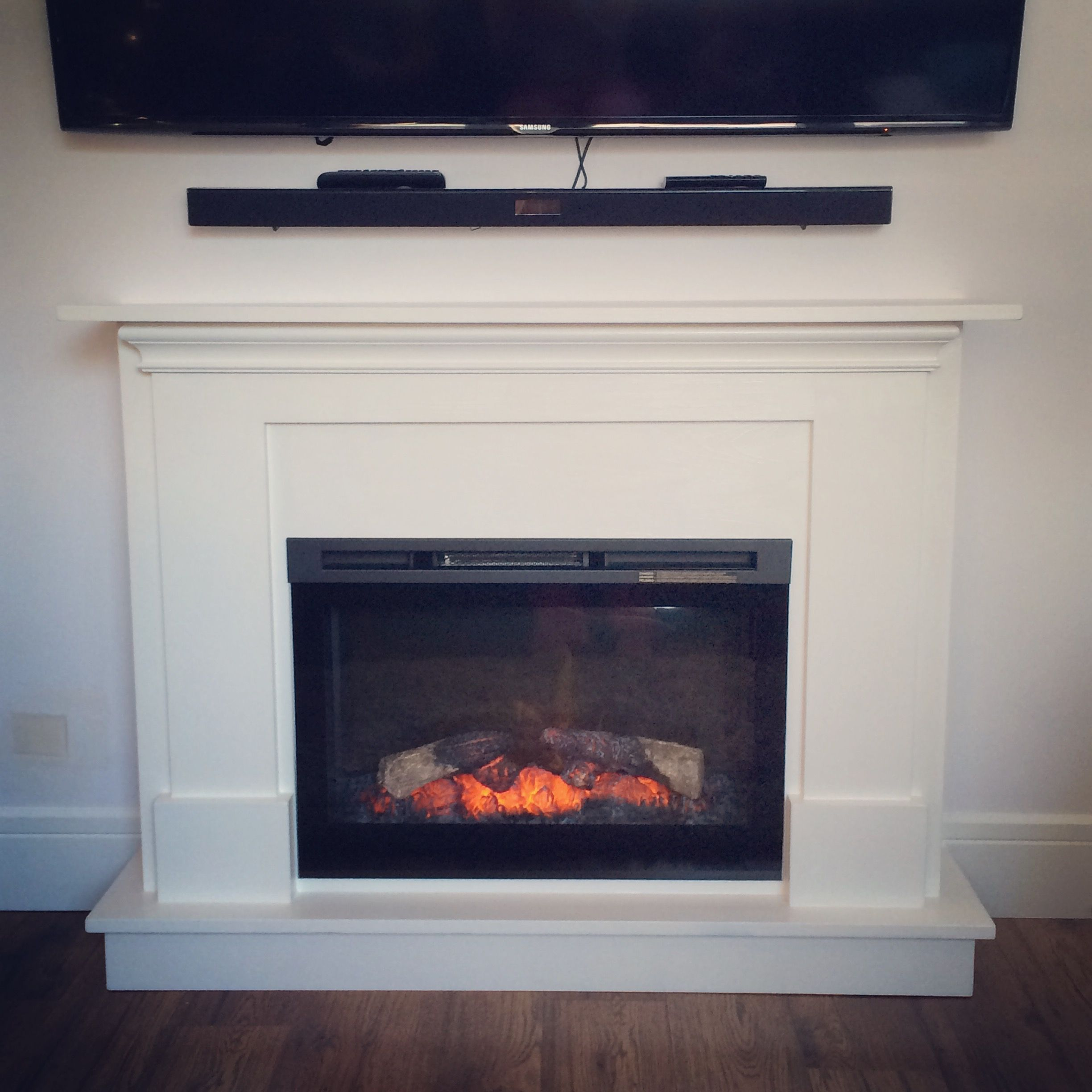 electric fireplace surround and mantel Do It Yourself