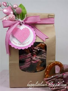 Easy packaging for Valentine Treats!