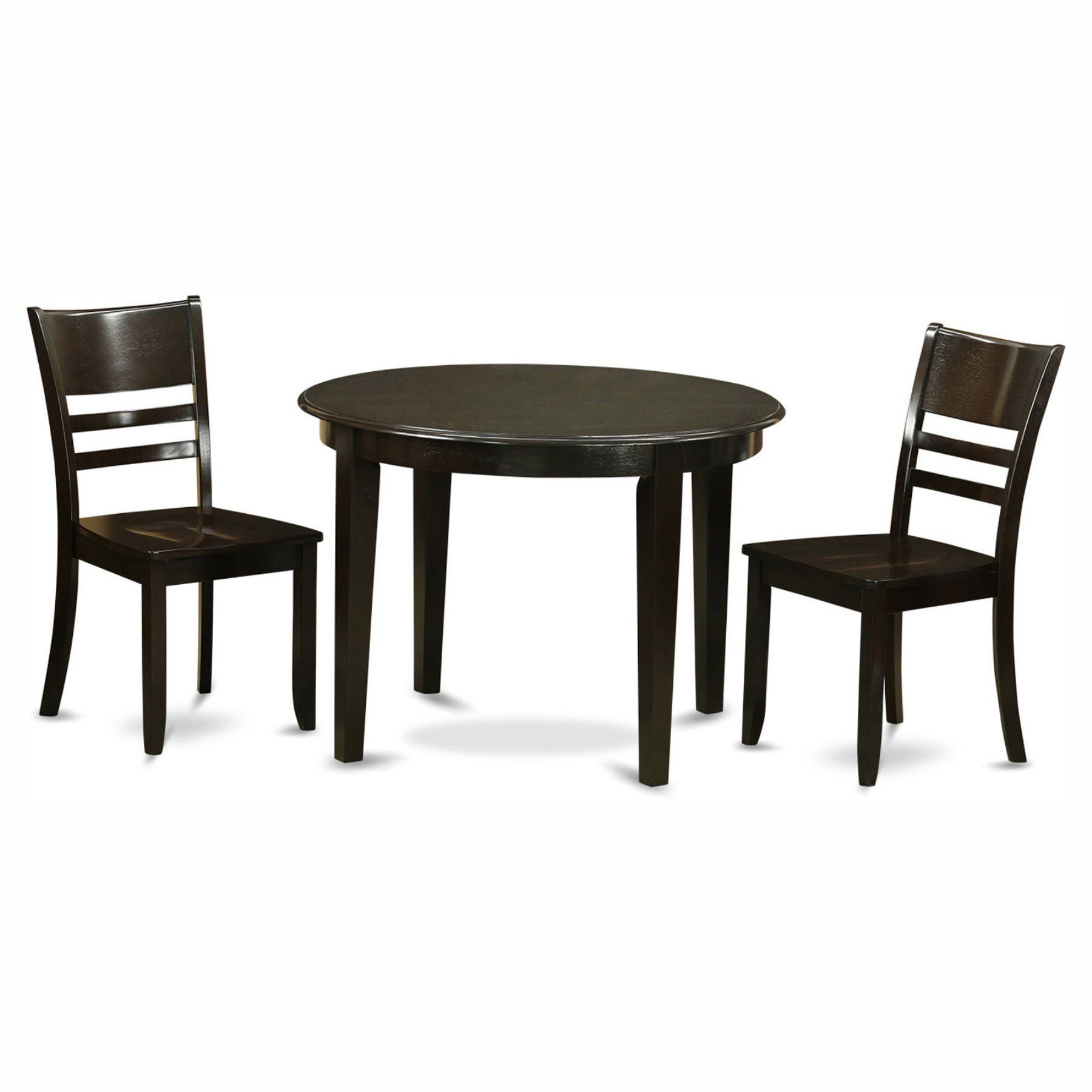 East West Furniture Boston 3 Piece Round Dining Table Set With Alluring 3 Piece Kitchen Table Set Design Ideas