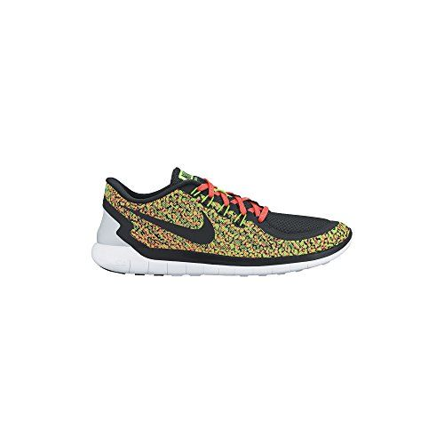 cheap for discount 4f729 7cadf Women s Nike Free 5.0 Print Running Shoe Voltage Green Hyper Orange White  Black