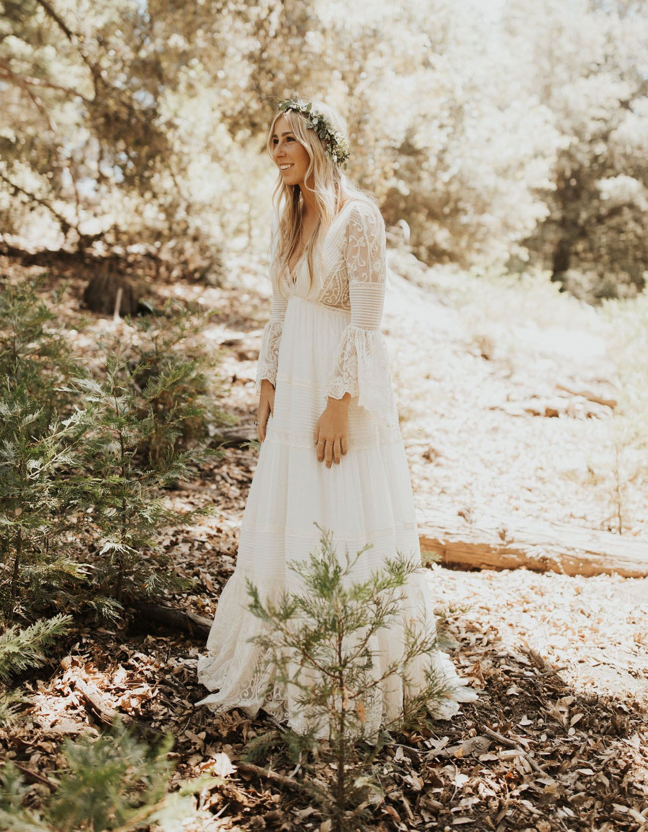 A Walk In The Woods Romantic Bohemian Wedding Where The Bride