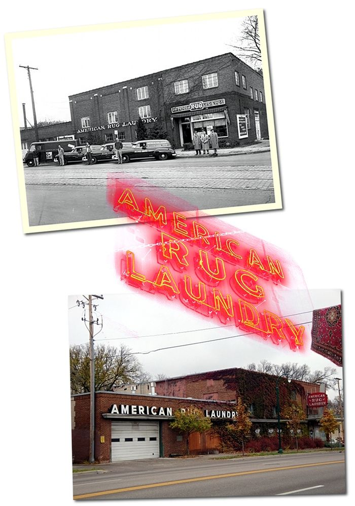 american rug laundry, then and now. | history galore! | pinterest