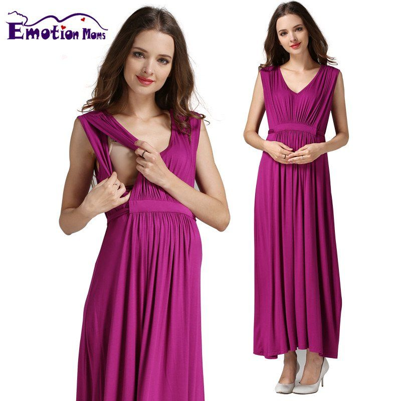 8cbb6036312f Emotion Moms Maternity Clothes pregnant Nursing Dress pregnancy clothes for Pregnant  Women Long Maternity Dresses Europe size
