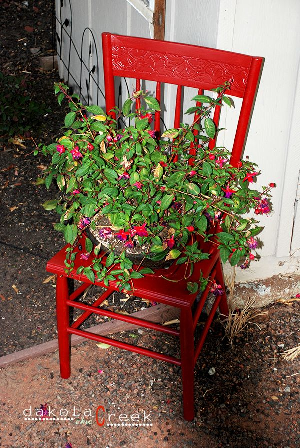 Painted Chair Planter