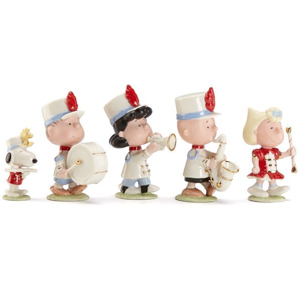 Exceptional Marching Band Christmas Ornaments Part - 11: Peanuts® Marching Band Figurine Set By Lenox