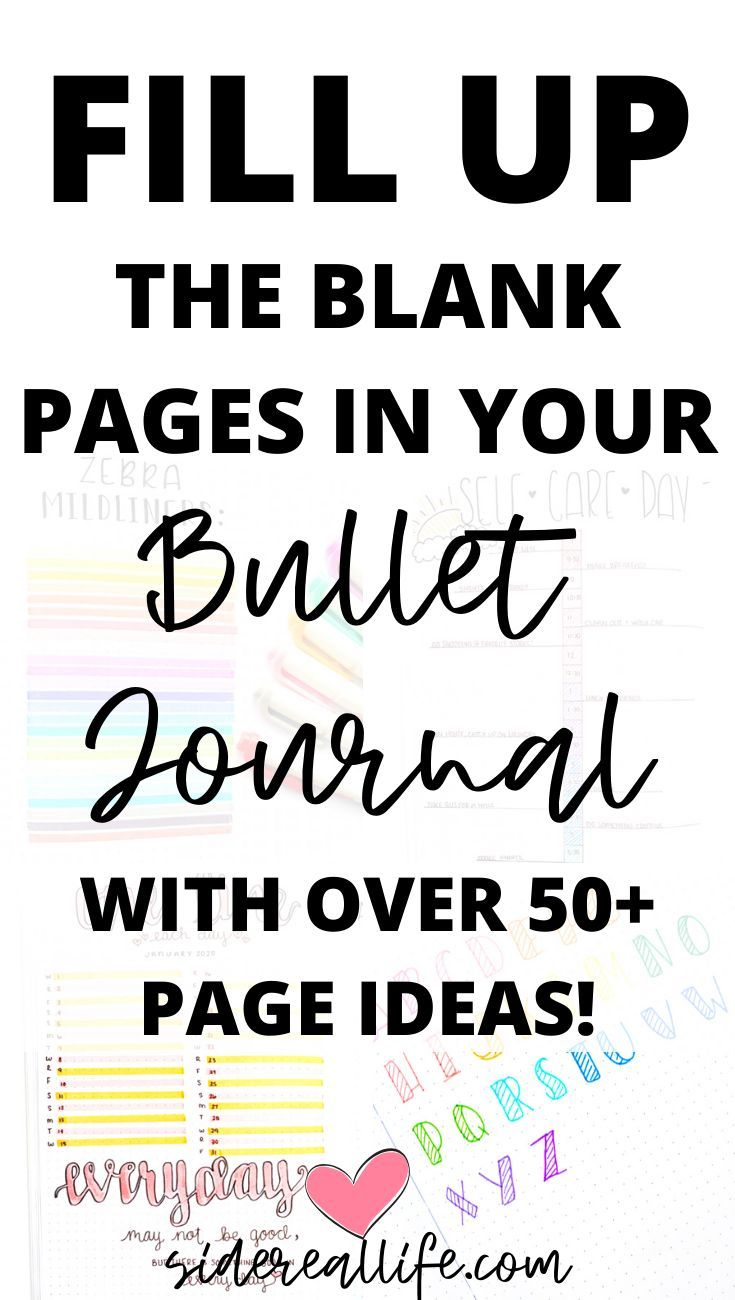 Bullet Journal Page Fillers: Creative Page Ideas To Try – Sidereal Life