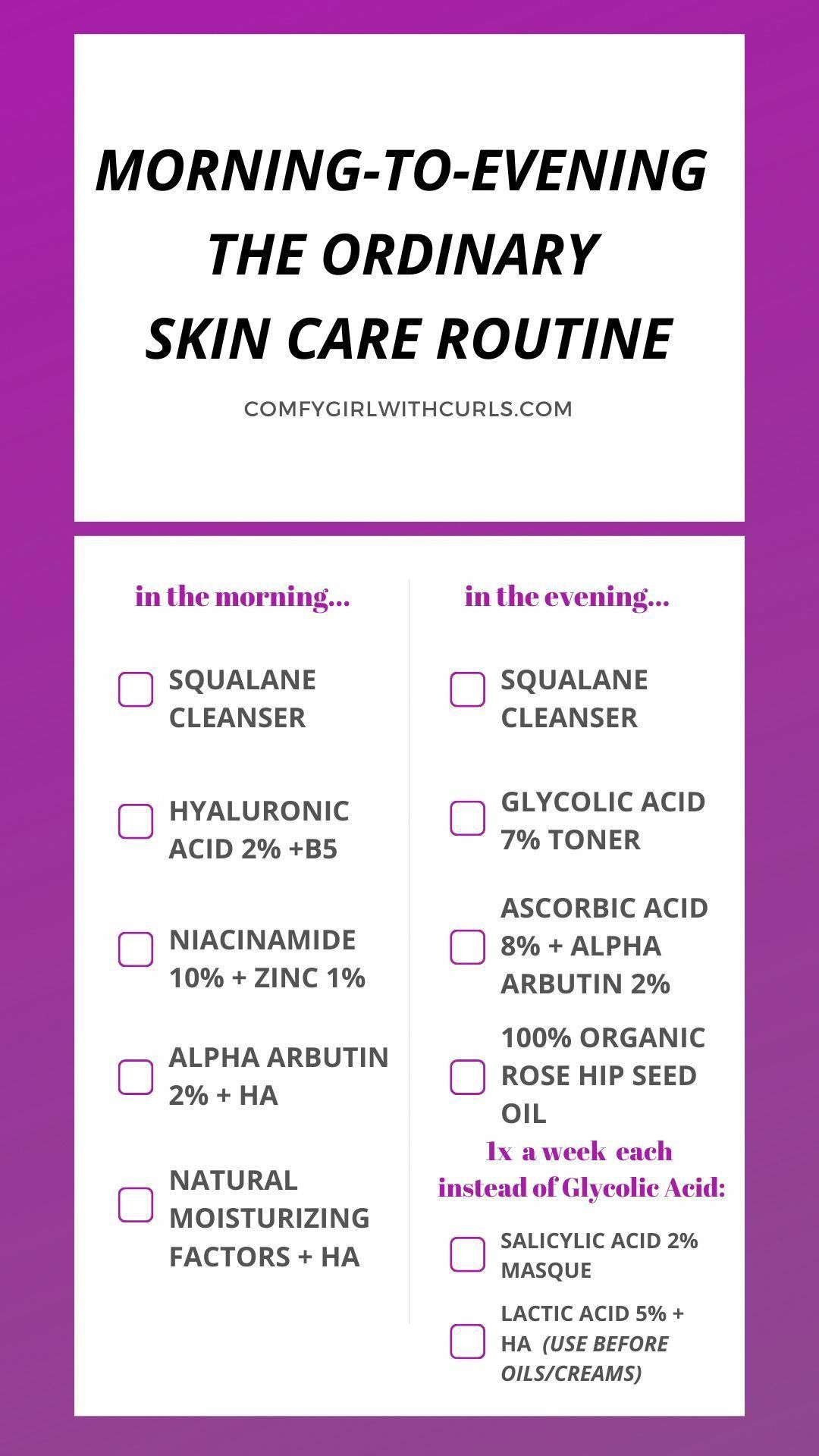 The Ordinary Skin Care Routine for Brown, AcneProne Skin